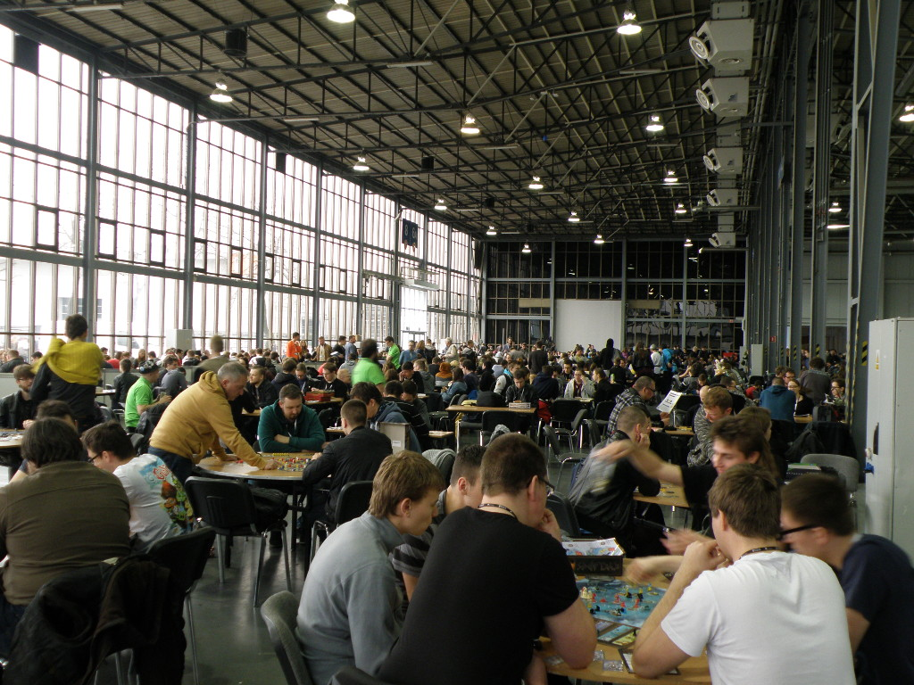 Part of the games room during Pyrkon 2016