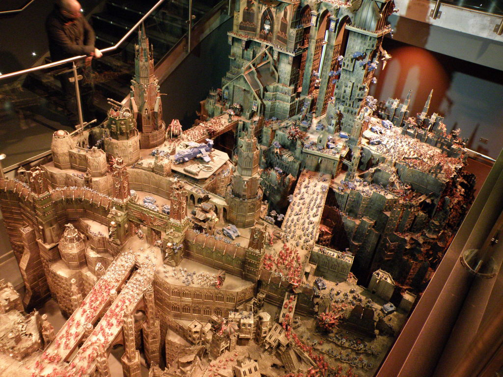 Warhammer World's biggest diorama with over 3000 miniatures