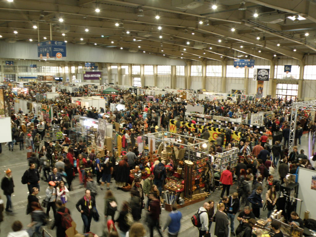 Pyrkon Dealers Hall.