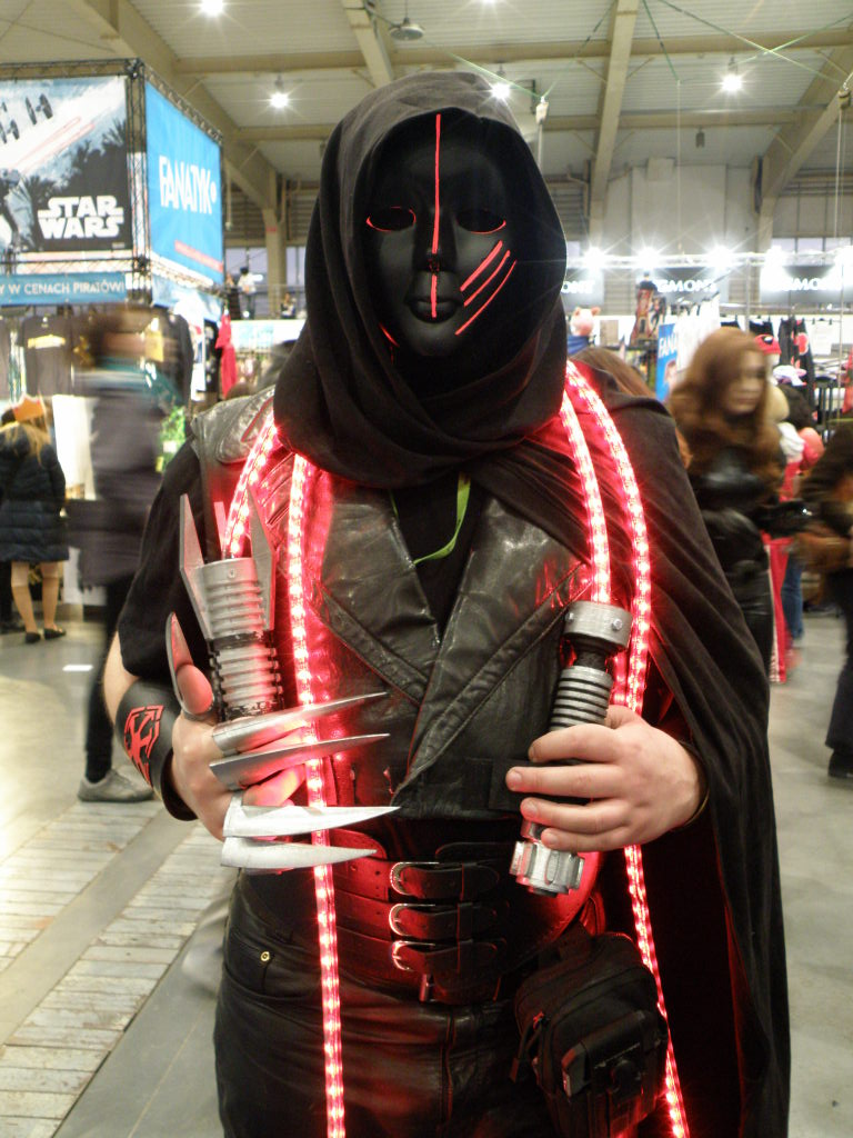 One of the cosplayers