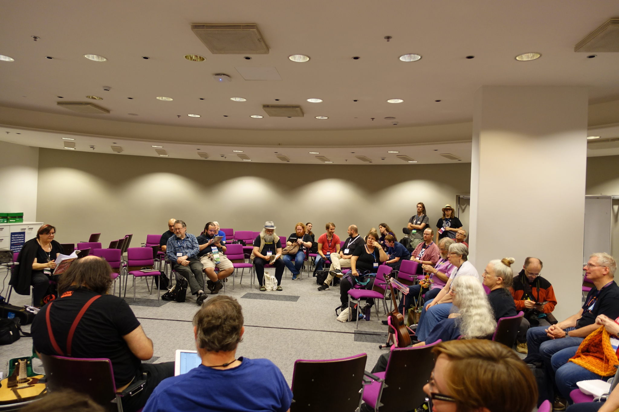 One of the Worldcon 75 Filk circles