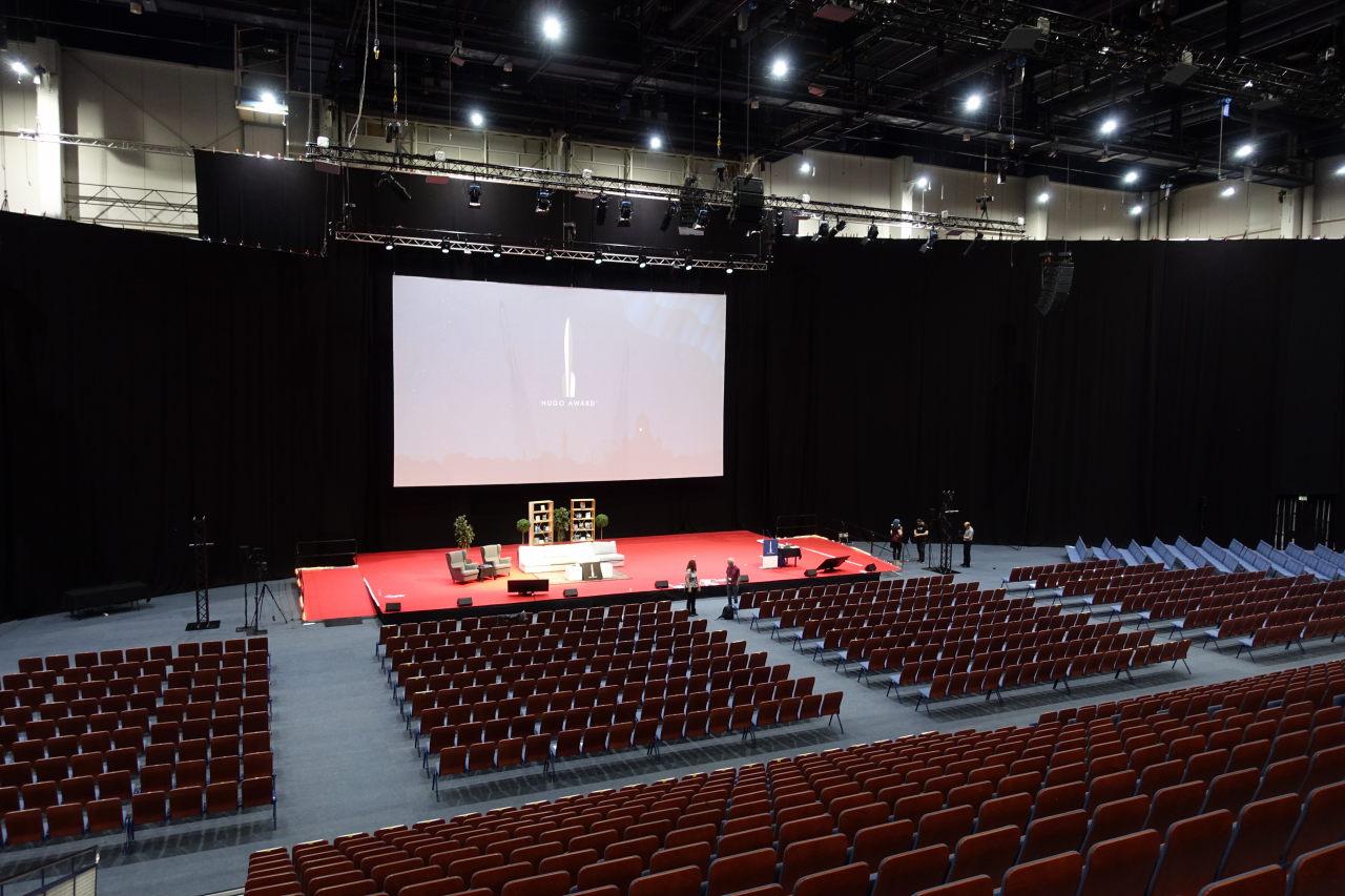 Hugo Auditorium during rehearsals