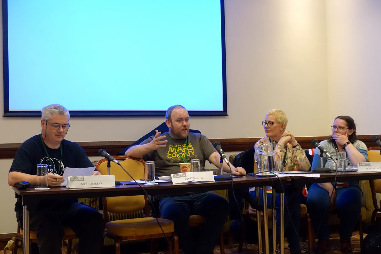 One of the panels with Nik Abnett