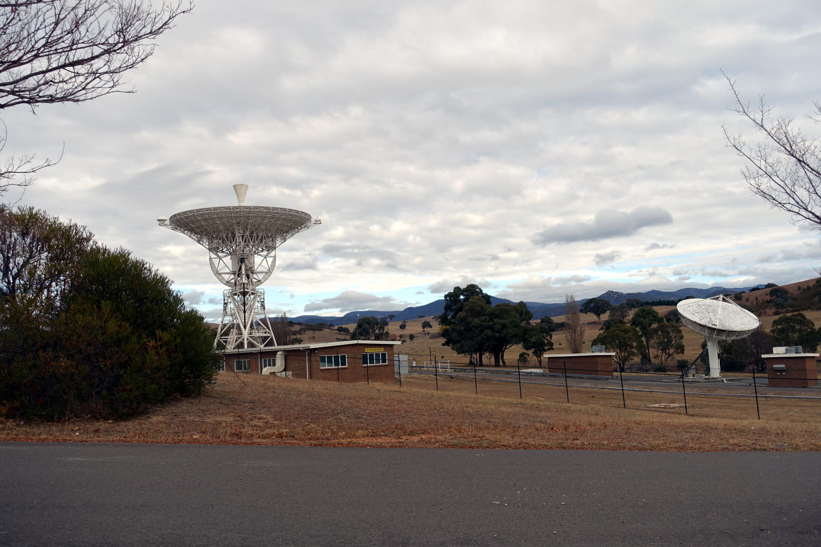 Two antennas in the Canberra Deep Space Communication Complex