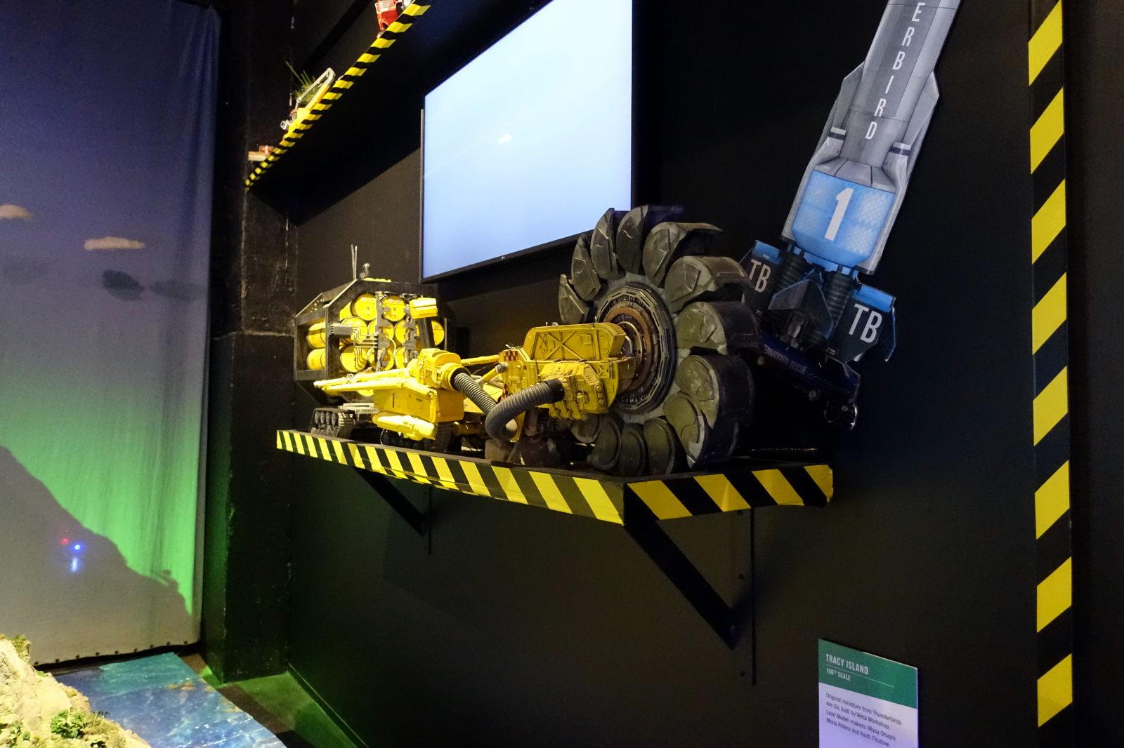 Model of an excavator