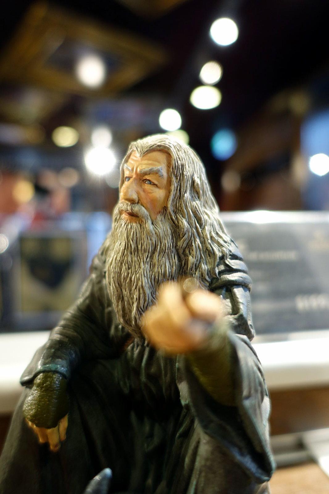 Clos-up on Gandalf figure.