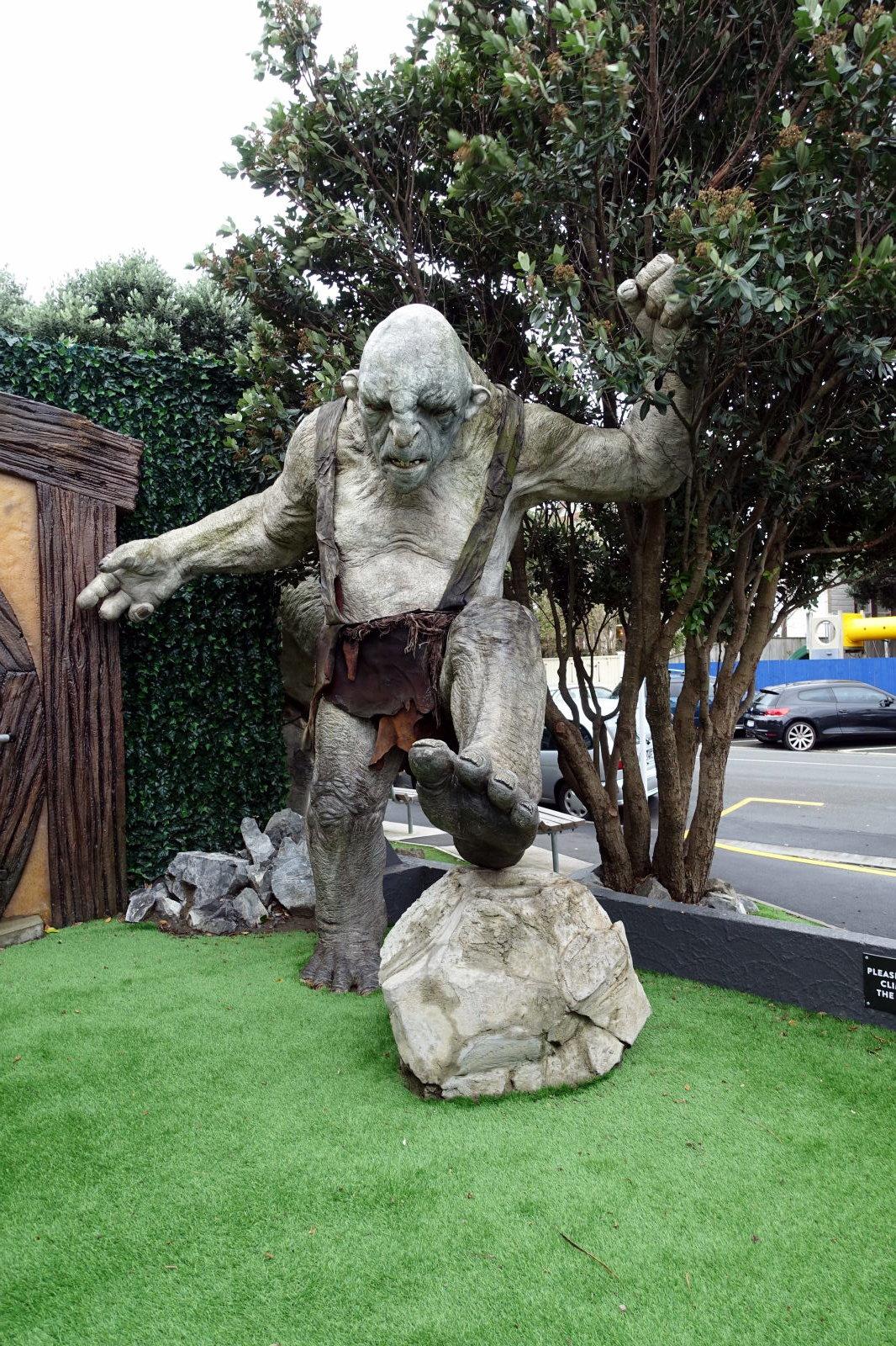 A big figure of a troll
