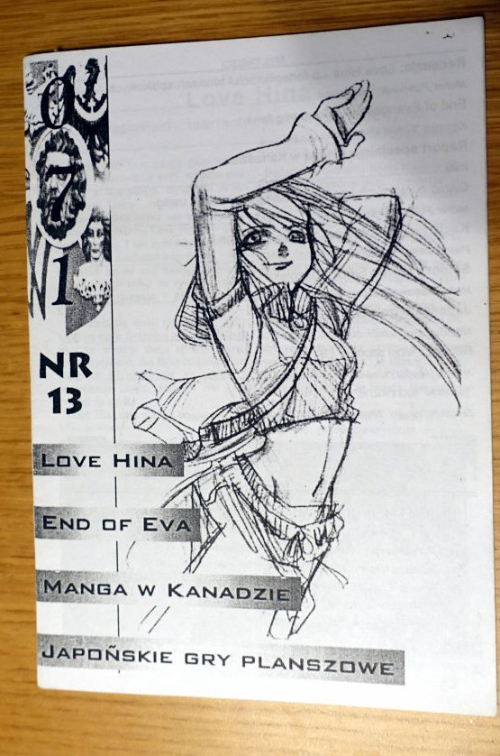 Cover of '071' fanzine. It depicts a girl drawn in manga style.