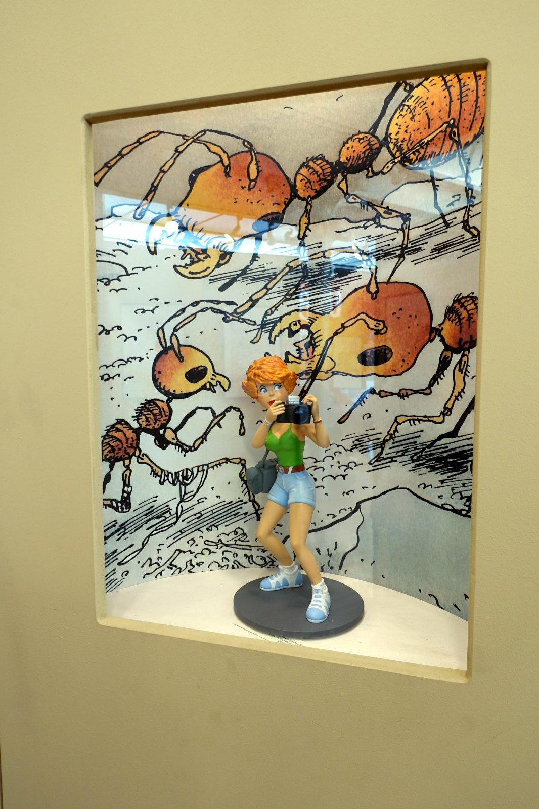Part of the exhibition devoted to Marc Wasterlain. Jeanette Pointu is one of his most famous characters.