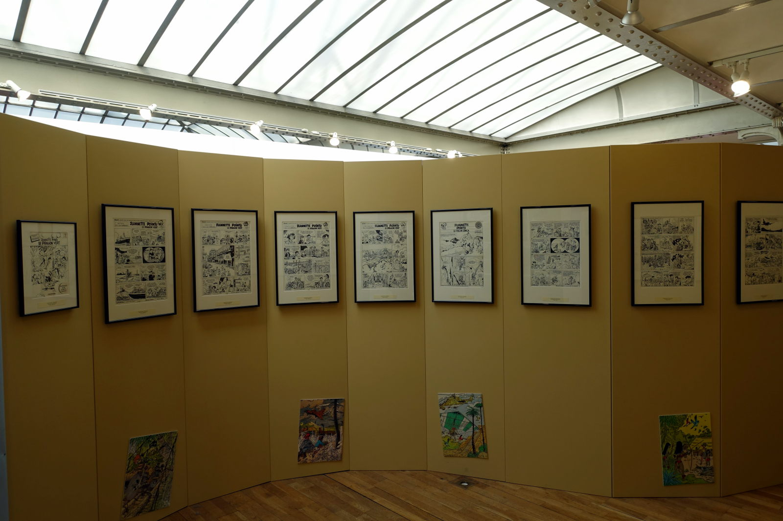 Part of the exhibition devoted to Marc Wasterlain.