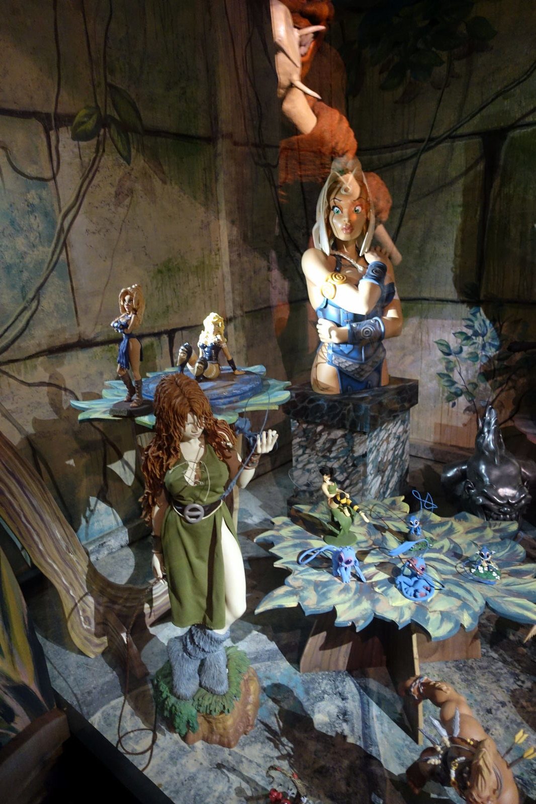Some figures from the Heroic fantasy display.
