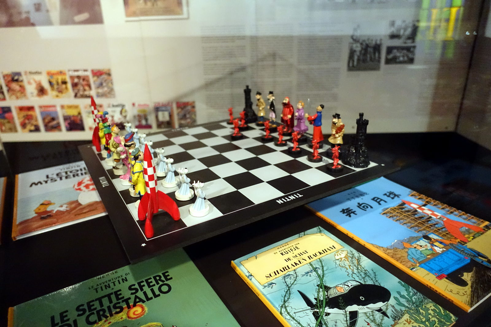 A set of chess with Tintin characters
