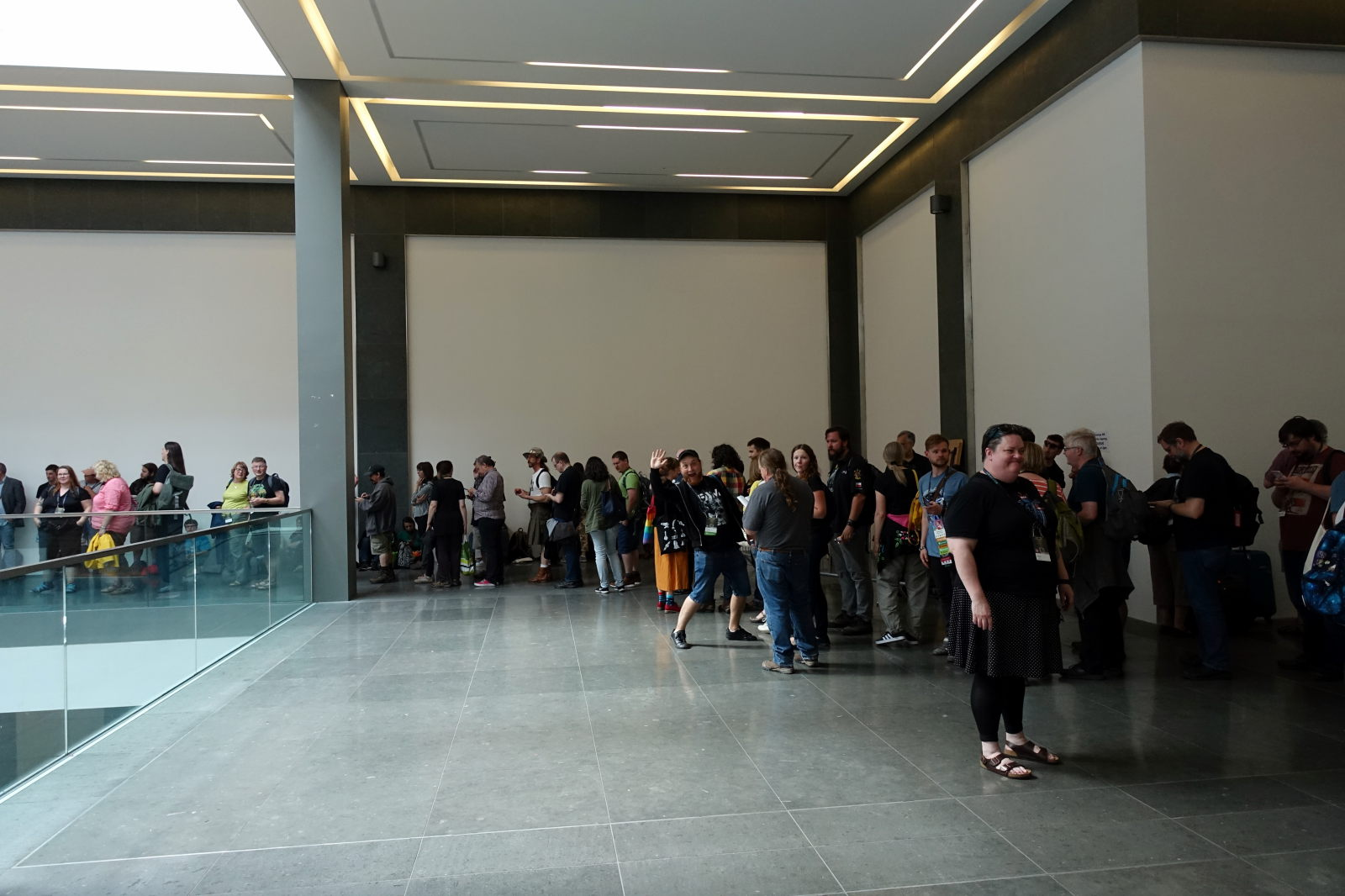 Many people standing in a queue in odeon Cinema during Dublin 2019.